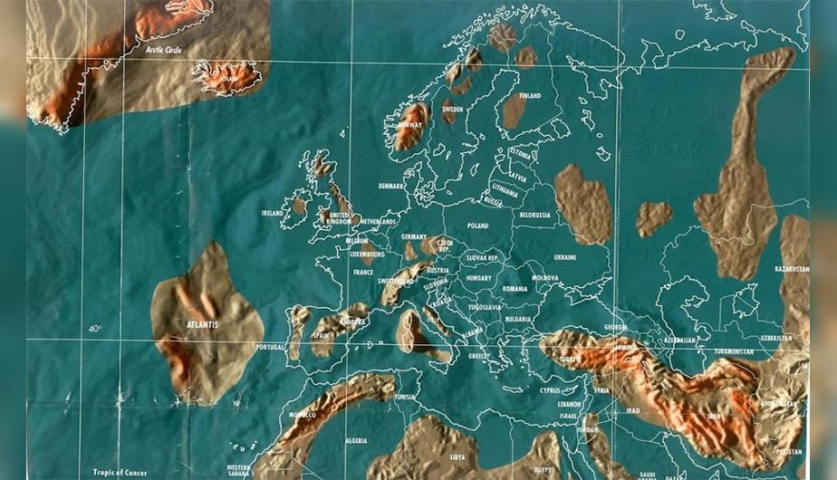 Futuro mapa post-apocalíptico de Europa del Norte.