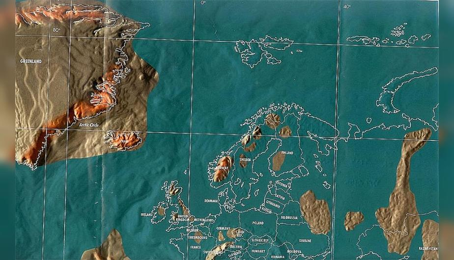 Futuro mapa post-apocalíptico de Europa.