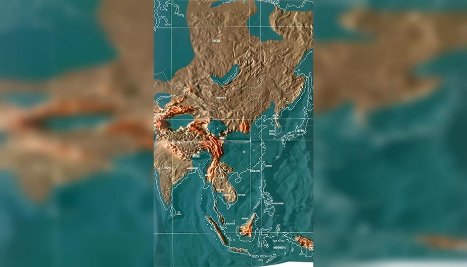 Futuro mapa post-apocalíptico de China.