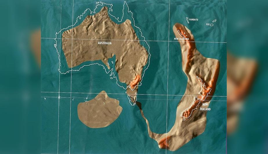 Futuro mapa post-apocalíptico de Australia y Nueva Zelanda.
