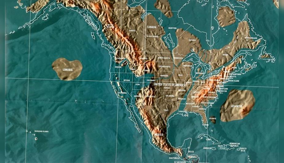 Futuro mapa post-apocalíptico de América del Norte