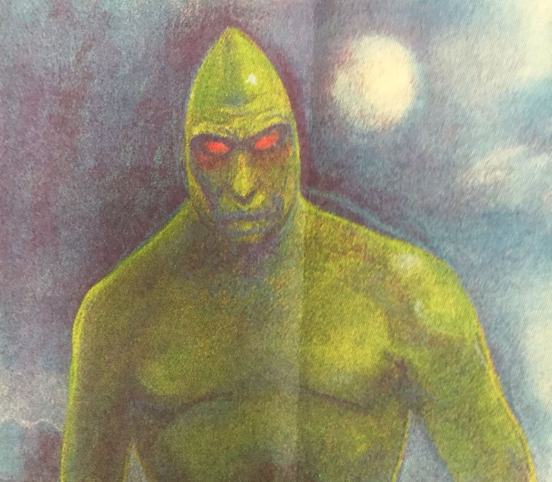 El «Hombre Lagarto» (Lizard Man) ilustrado en Julio de1989 por Post and Courier