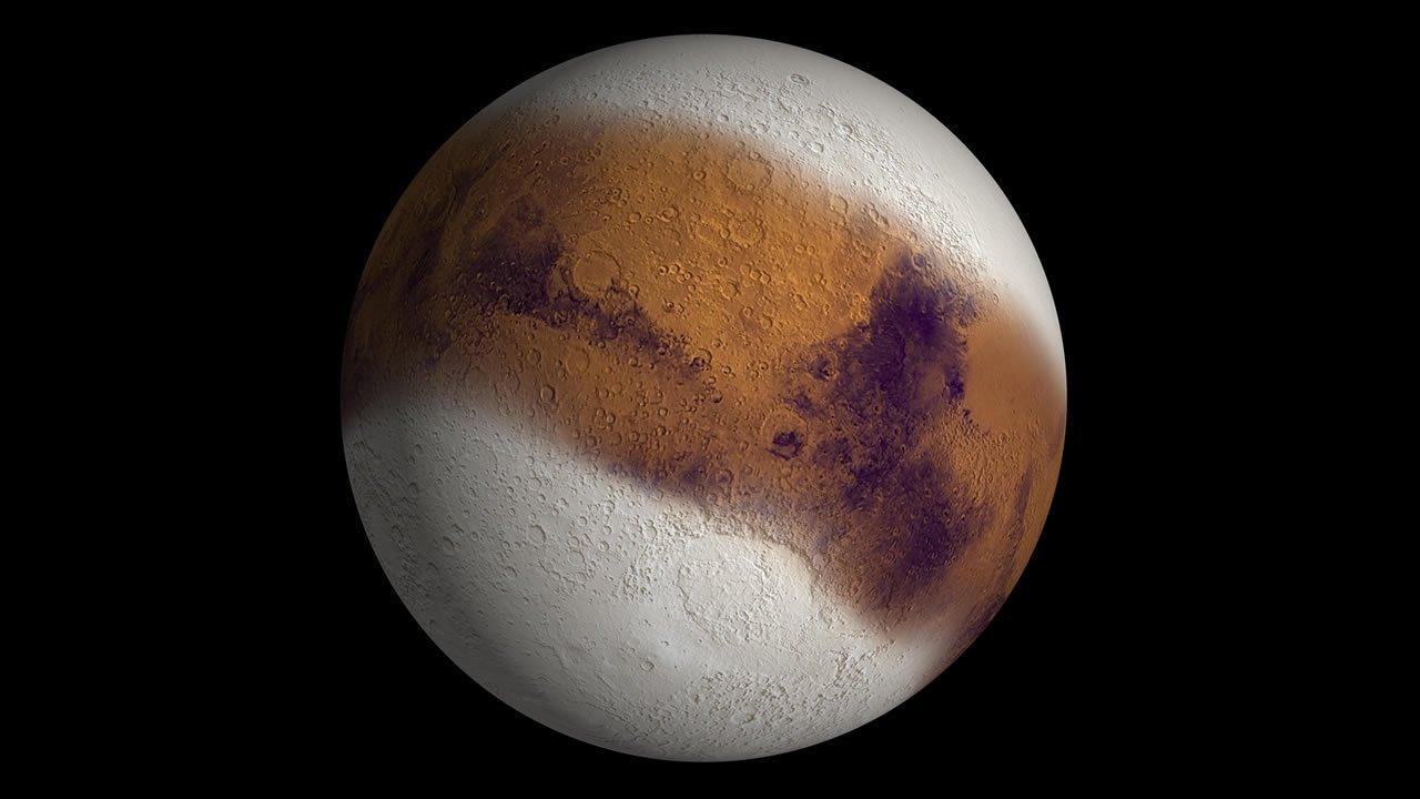 Estudio concluye que fuertes tormentas de nieve se desencadenan en Marte