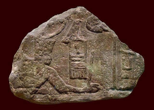 Imagen de Sanajt esculpida en Uadi Maghara, península del Sinaí. Su nombre significa «el fuerte protector».