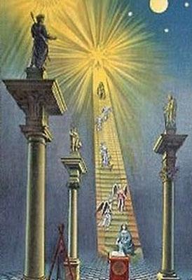 Arte masón retrata a Sirio, la estrella ardiente, como el destino final del viaje del Mason.