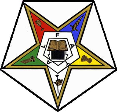 El símbolo de la OES es una estrella invertida, similar a la Estrella Llameante de la Francomasonería.