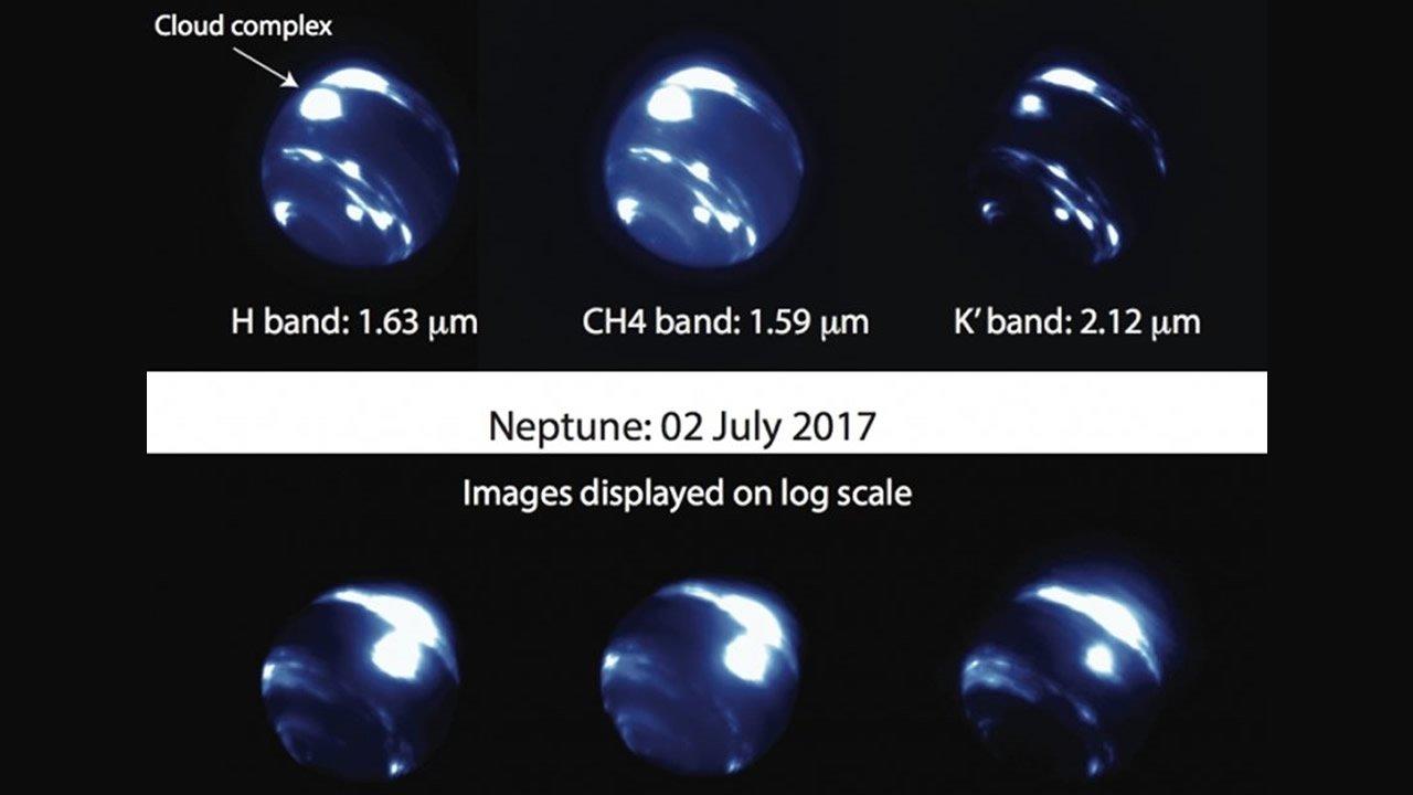 Detectan una enorme tormenta en la zona ecuatorial de Neptuno