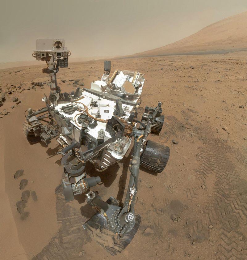 Vehículo de exploración espacial Curiosity.