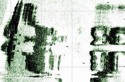 Imágenes de sonar de mega-estructuras en el fondo marino