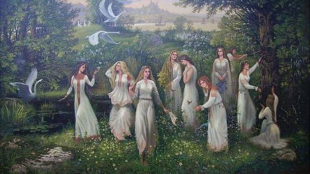 Una representación de mujeres de Hiperborea
