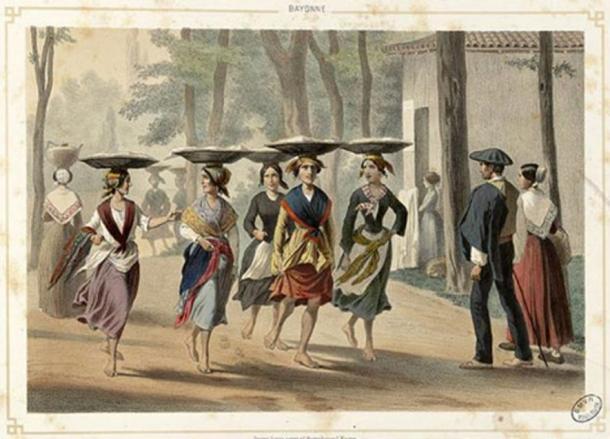 Mujeres vascas en Bayona (1852)