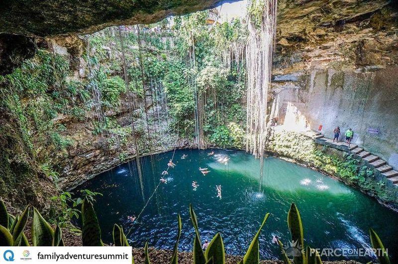 Cenote en Chichén Itzá, México