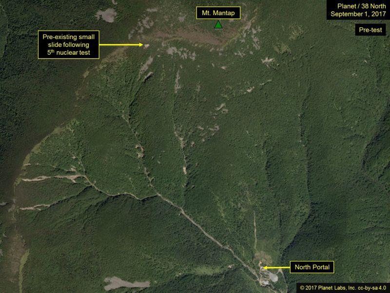 Imágenes satelitales muestran indicios de posibles nuevos preparativos de ensayos nucleares en Corea del Norte