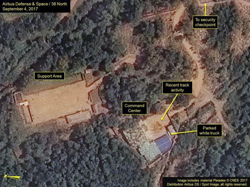 Análisis del sitio Punggye-ri después de la prueba nuclear del 03/09/2017