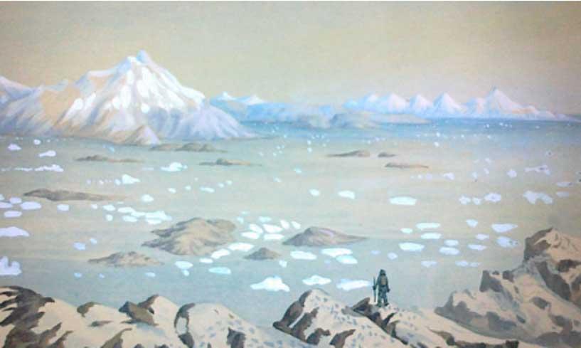 Explorador del Ártico, ilustración de Andreas Kornerup.