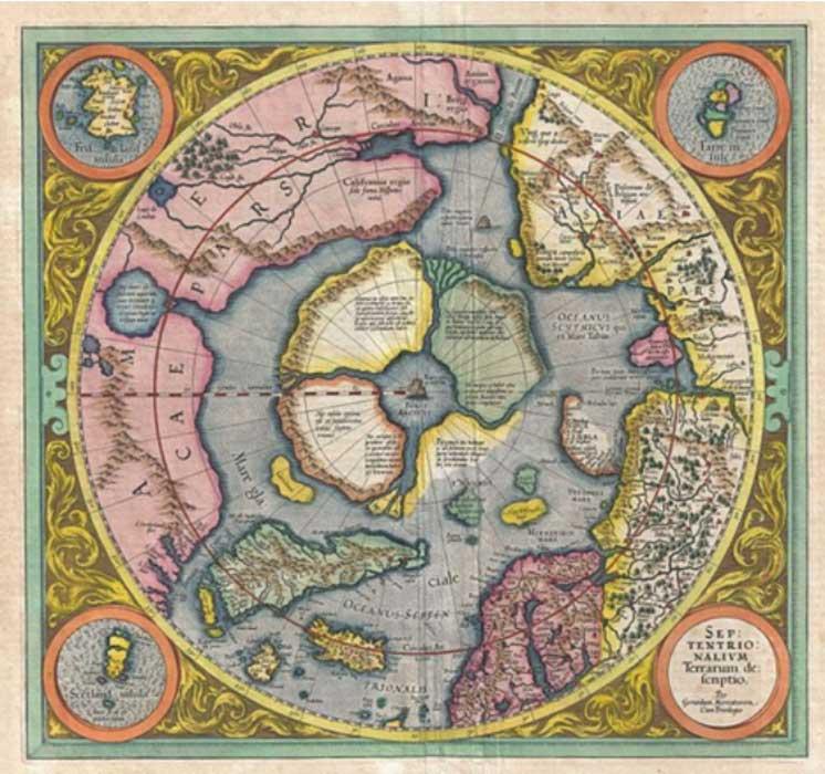 Mapa del Ártico, siglo XVI