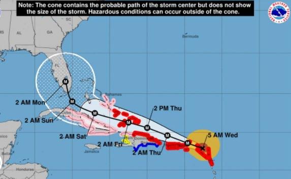 Trayectoria del huracán Irma