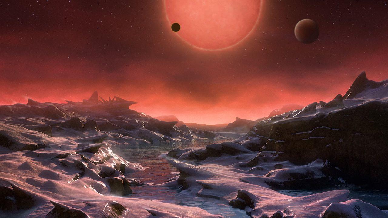 Encuentran evidencia de agua en planetas de Trappist-1