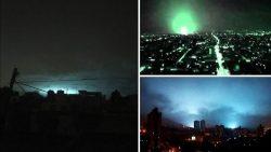 Extrañas luces en el cielo luego del terremoto de 8.2 en México