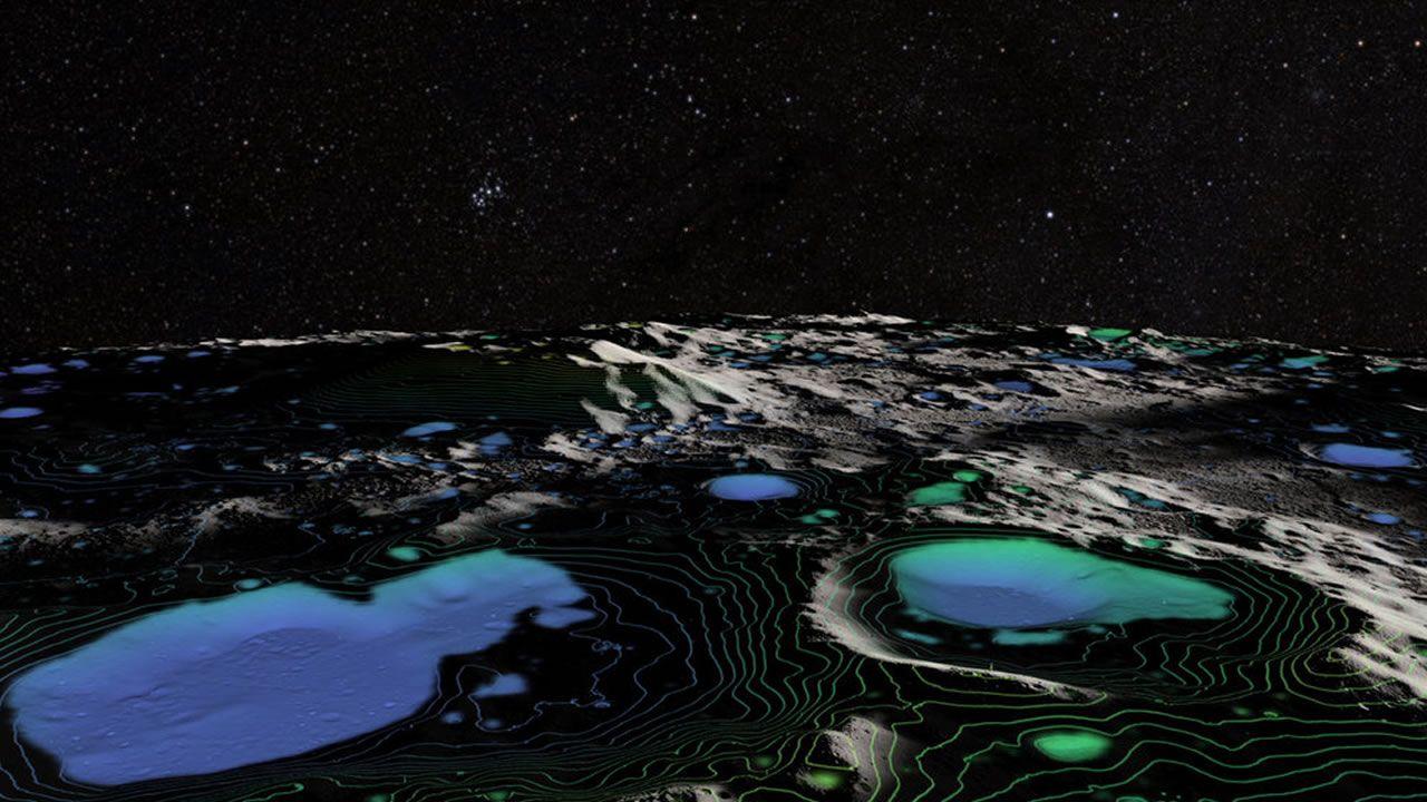 Detectan moléculas permanentes de agua en la superficie lunar