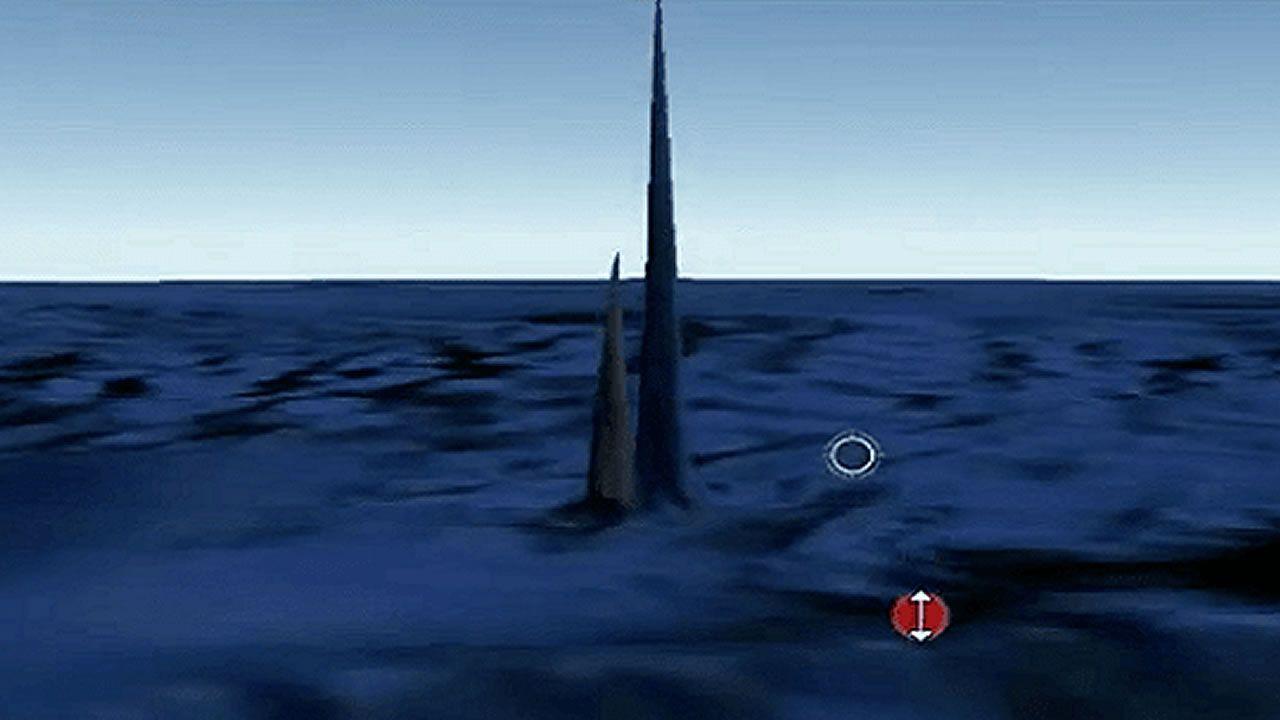 Descubren obeliscos submarinos en el lado opuesto a la Gran Pirámide de Giza