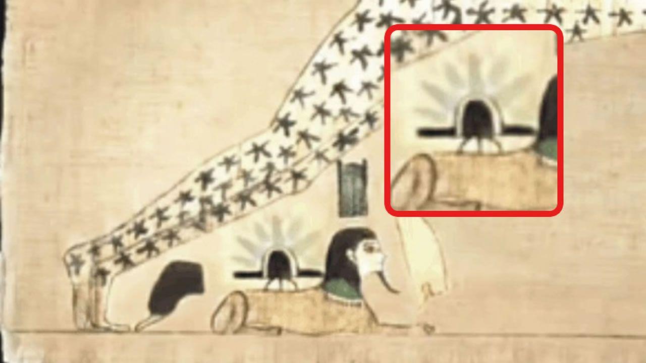 ¿Este antiguo manuscrito egipcio muestra un aterrizaje de Ovnis en la Esfinge?