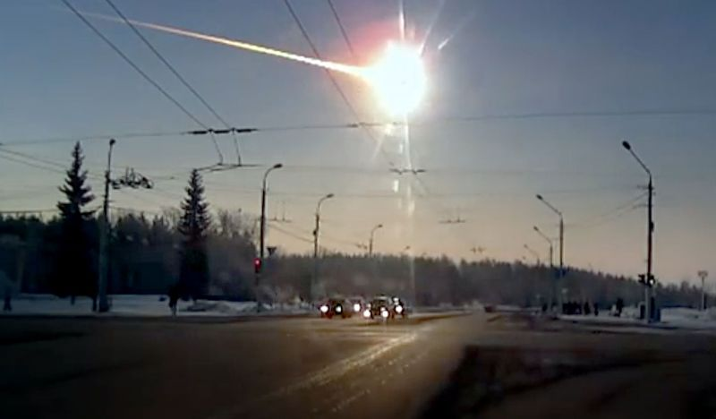 La explosión sobre el cielo de Chelyabinsk en 2013