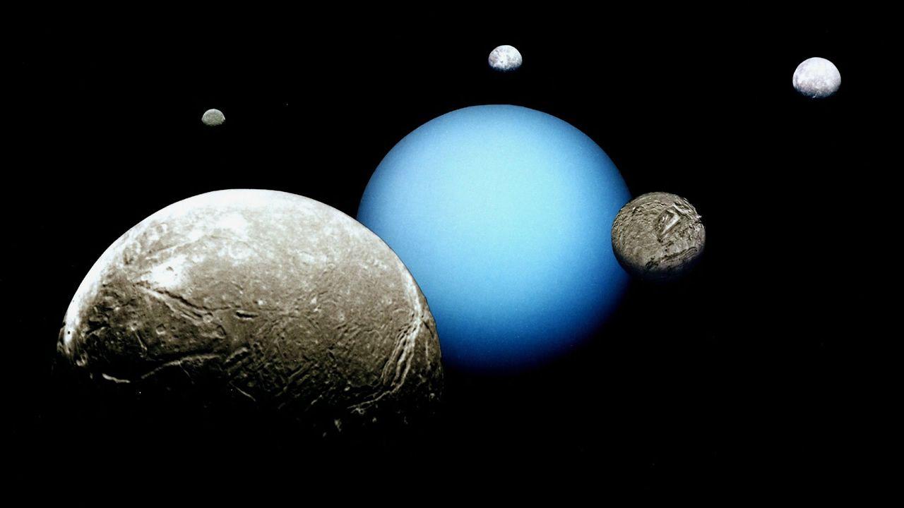 Científicos predicen el impacto entre dos de los satélites de Urano