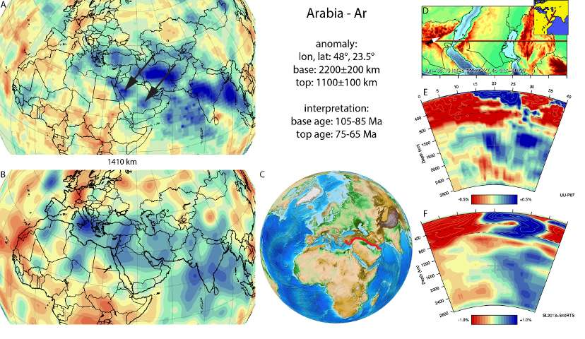 La anomalía de Arabia, que se formó durante los últimos años de la era de los dinosaurios