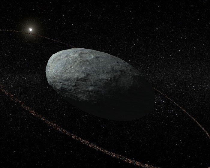 Representación artística de Haumea