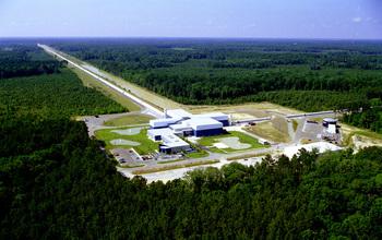 El sitio del detector de LIGO en Livingston, Luisiana.