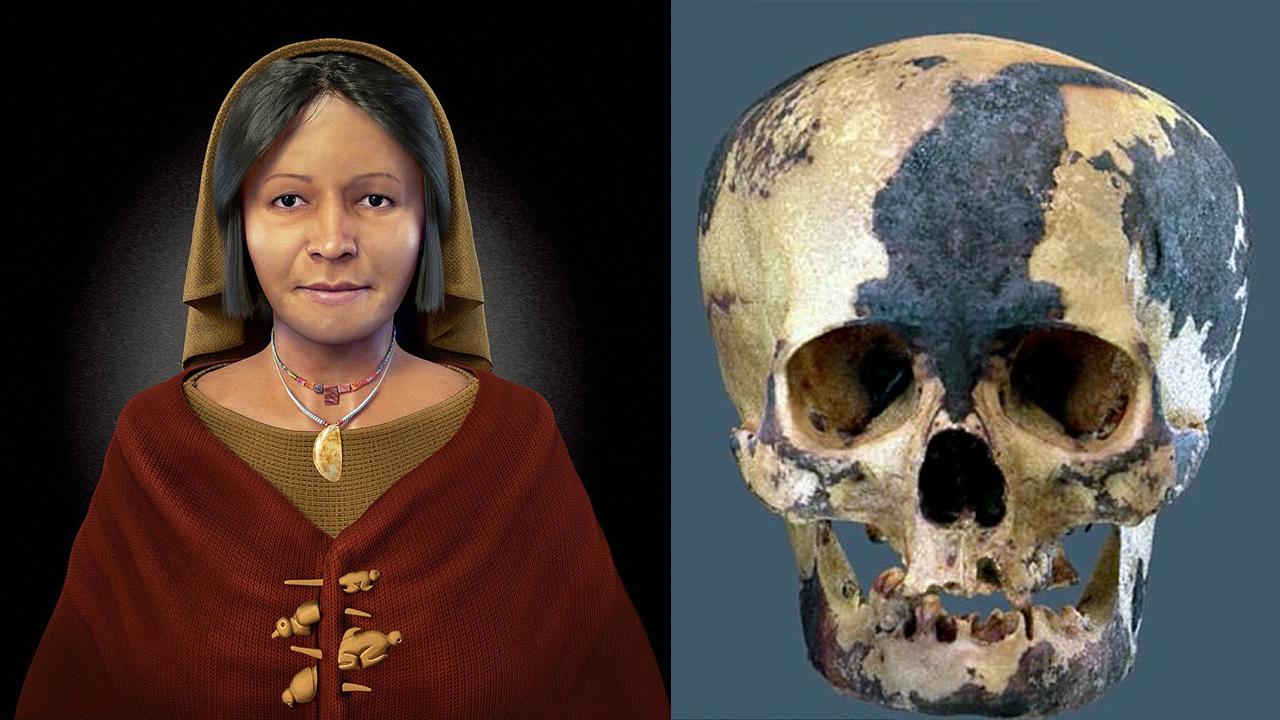 Reconstruyen rostro de «Dama de los Cuatro Tupus» de Caral, Perú