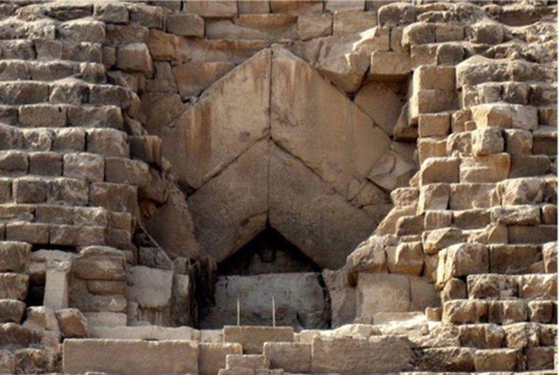 La «entrada» a la Gran Pirámide por la que se accedió a ella en el 832 d. C.