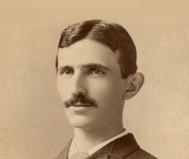 Un joven Nikola Tesla