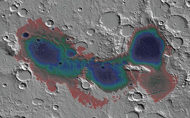 Se cree que la cuenca de Eridania, en el sur de Marte, poseía un mar hace unos 3.700 millones de años, y que los depósitos del fondo marino probablemente sean el resultado de la actividad hidrotermal subacuática