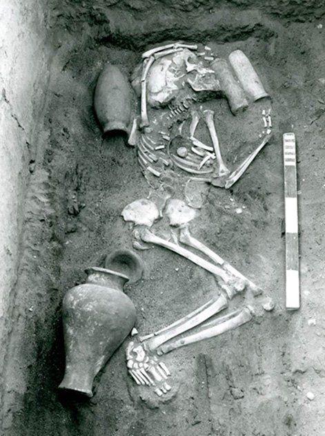 Típico enterramiento de Saqqara hallado en el transcurso de excavaciones realizadas en la primera mitad del siglo XX