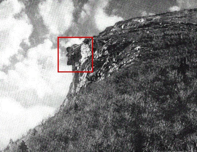 «El Viejo de la Montaña» en una fotografía de 1911