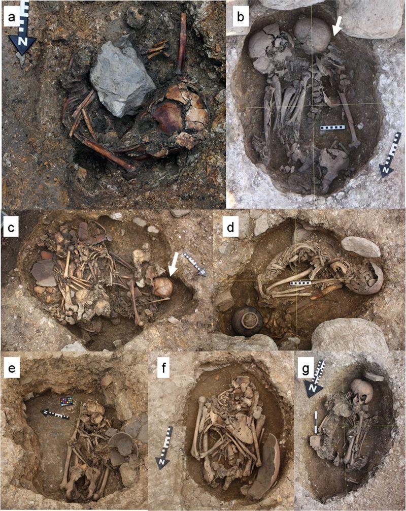 Individuos enterrados con signos de trauma