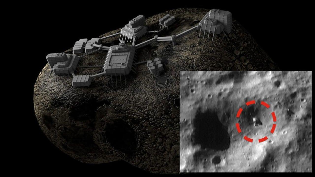 ¿Qué es este objeto en el Asteroide Eros?