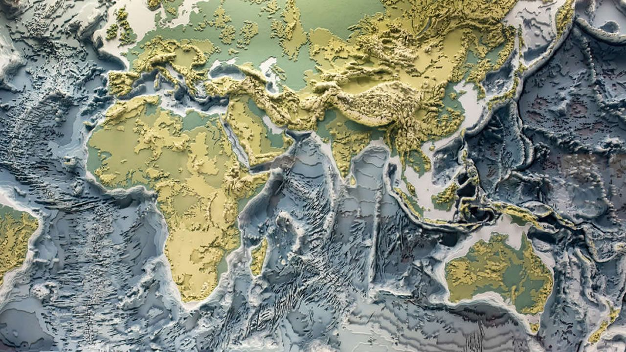 «Atlas del Inframundo» muestra las 94 placas tectónicas ocultas de la Tierra