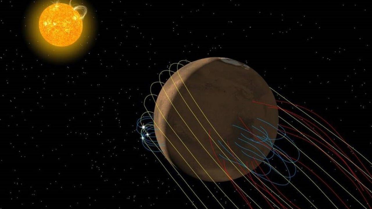 NASA descubren un fenómeno magnético que pudo acabar con la vida en Marte