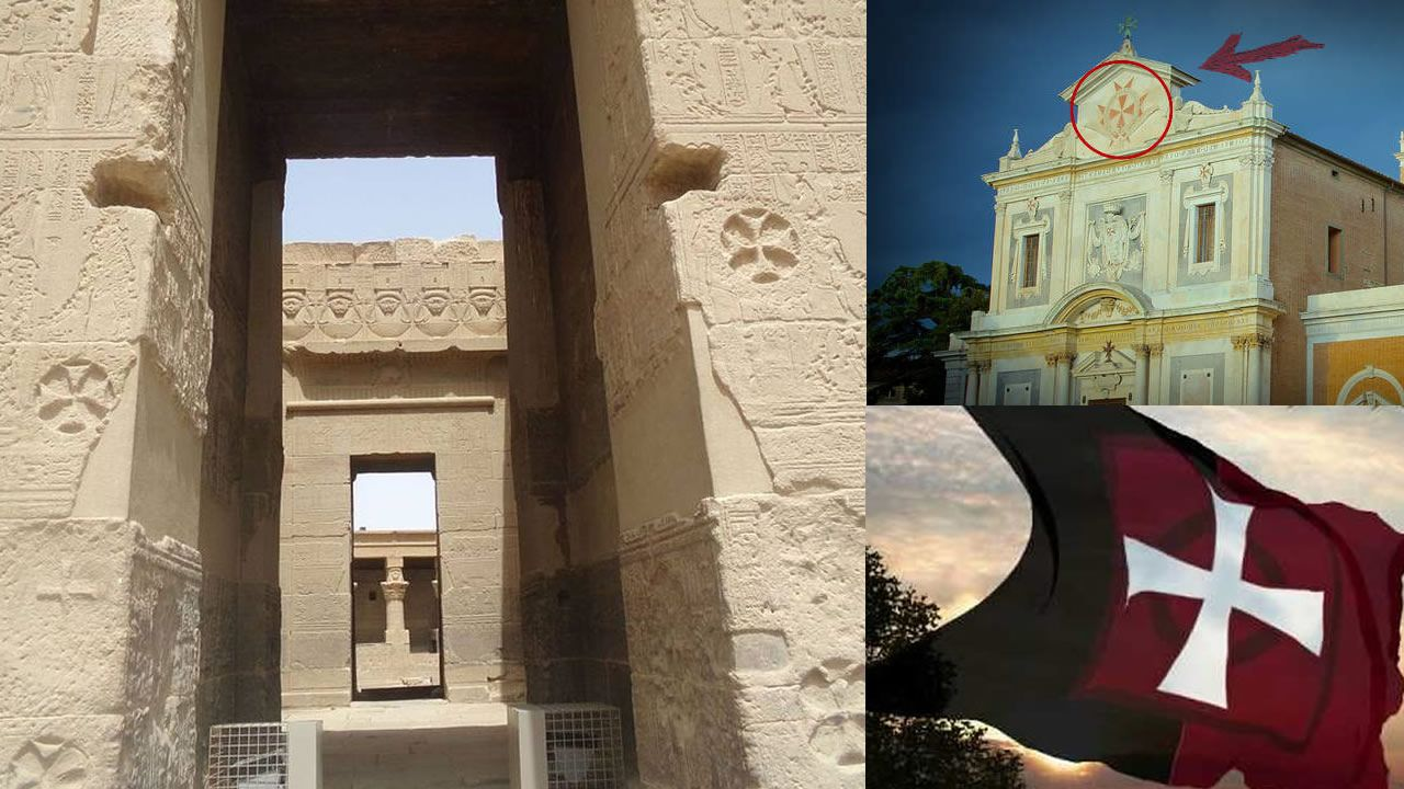¿Qué hacen estas «cruces templarias» en un antiguo templo egipcio?