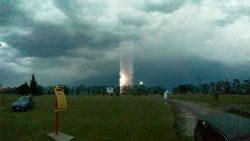 Reportan misterioso fenómeno durante tormenta en Entre Ríos, Argentina