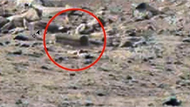 ¿Es esta la evidencia de humanos en Marte?