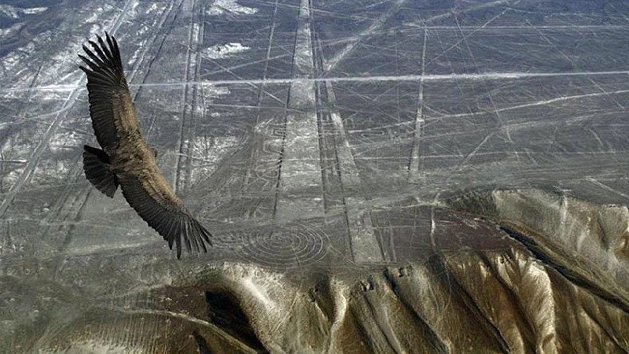 Esto es lo que sucede al trazar las Líneas de Nazca por todo el planeta