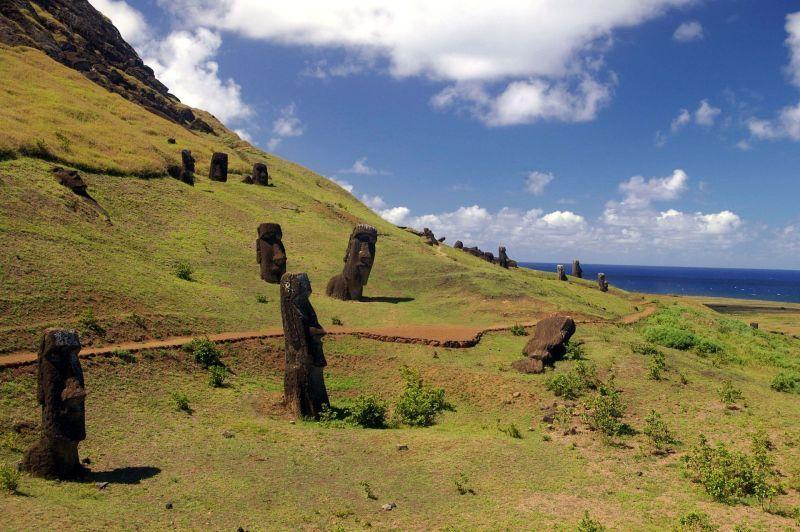 Estatuas Moai de la Isla de Pascua