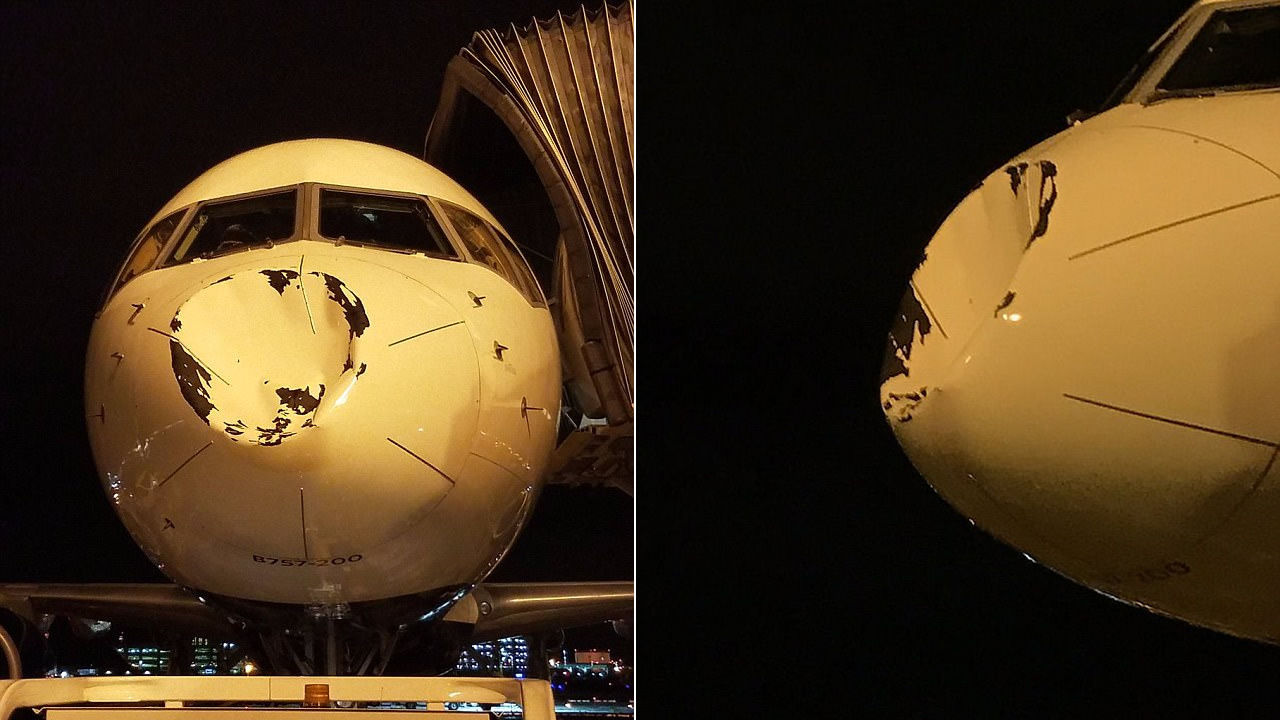Un OVNI podría haber impactado un avión de la NBA