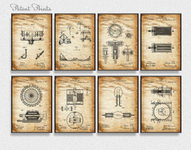 Alguna patentes de Nikola Tesla