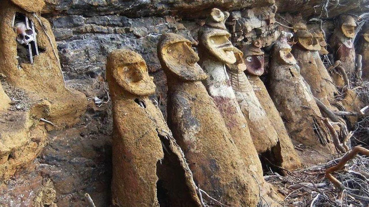 Enigmáticas figuras de 600 años de antigüedad de Karajia, Perú