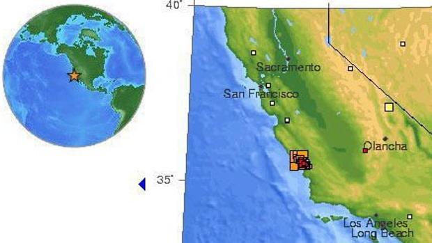 a Falla de San Andrés, en California, es una zona de alta intensidad sísmica